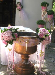 Ο στολισμός της βάπτισης ξεκινά από την εκκλησία. Η διακόσμηση εκκλησίας βάπτισης είναι σημαντική: εμείς σας προτείνουμε ευφάνταστες συνθέσεις Baby Baptism, Christening, Baptism Decorations, Fountain, Candle Holders, Candles, Outdoor Decor, Home Decor, Style