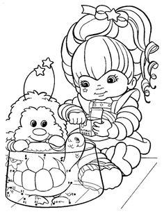 Rainbow Brite Love Eating Fish Coloring For Kids