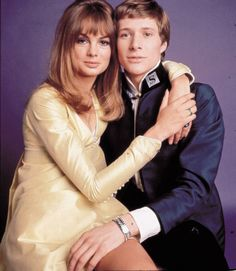 """ promotional photo of Jean Shrimpton and Paul Jones for Privilege (1967) """