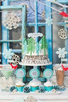 winter wonderland holiday birthday party-17