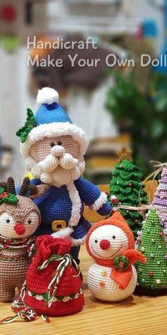 Amigurumi Christmas Doll Tutorial Free Pattern – Free Amigurumi Crochet -… in 2020 Crochet Christmas Decorations, Christmas Crochet Patterns, Holiday Crochet, Christmas Knitting, Crochet Gifts, Christmas Crafts, Crochet Amigurumi Free Patterns, Crochet Animal Patterns, Doll Patterns