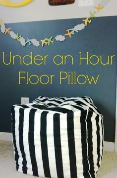 One Hour DIY Bean Bag Chair dorm ideas DIY dorm ideas #diy