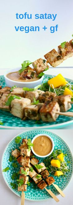 These Vegan Tofu Satay Skewers are super satisfying and just as delicious as its chicken counterpart. Gluten-free. Perfect for grilling and BBQs.