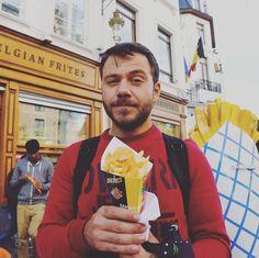 In #belgium with my #frenchfries #happytraveller #food #tvshow
