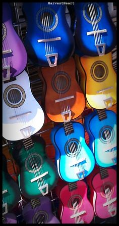 Guitars of many colors