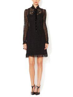 DOLCE & GABBANA - Silk Chiffon Lace Dress