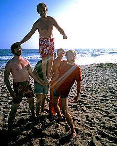 See The Beach Boys pictures, photo shoots, and listen online to the latest music. The Beach Boys, I Love The Beach, Boy Pictures, Beach Pictures, America Band, Tan Bikini, California Beach, California Living, Enjoying The Sun