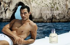 David Gandy Dons His Iconic White Speedos for Dolce & Gabbana's Light Blue Fragrance Campaign