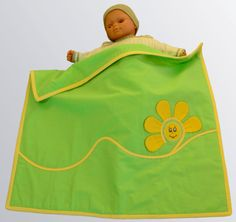 Baby Play Mat  Quilt Green Color With Sun Aplique by mybabyblanket, $50.00
