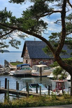 Anderson Dock  / Dating back to the late 1850s, the historic Anderson Dock served as the port-of-call for passing steamships who traveled the waters of Green Bay. Today, the wooden structure houses the famed Hardy Gallery and serves as a local Door County landmark in the town of Ephraim, WI, USA