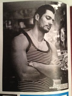 david gandy  | David Gandy Shaves On Shortlist Cover. Photgraphed In Murdock Covent ...