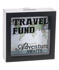 This 'Travel Fund' Shadowbox Bank by GANZ is perfect! #zulilyfinds