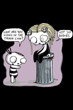 Lenore the cute little dead girl, absolutely my favorite comic ever! So twisted and funny :) Satw Comic, Emily The Strange, Emo Love, Cute Zombie, Haha Funny, Hilarious, Funny Stuff, Punk, Fantasy Paintings