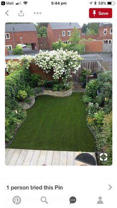 Best Small Yard Landscaping & Flower Garden Design Ideas Because you have a small garden, it doesn't want to work a lot. A small garden can be very exotic with just a little planning. Improving a beautiful modern garden [ … ] Backyard Garden Design, Small Garden Design, Backyard Ideas, Balcony Garden, Backyard Designs, Garden Turf, Small Garden Layout, Pool Ideas, Backyard Patio