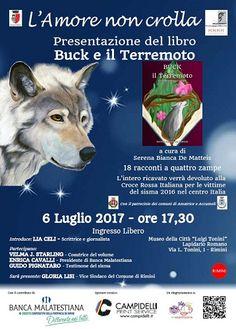FRONTESPIZIO: domani Buck e il Terremoto: Racconti a quattro zampe a cura di Serena Bianca De Matteis