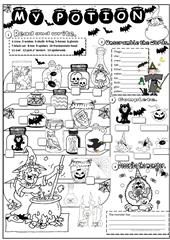 Halloween - crossword worksheet - Free ESL printable worksheets made by teachers