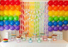 60 Cute Rainbow Birthday Party Ideas