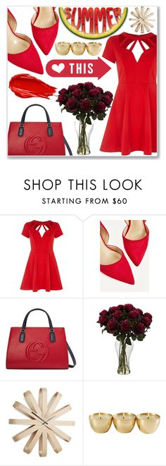 """""""Dresswe Reviews"""" by dresswereviews ❤ liked on Polyvore featuring River Island, Gucci, Umbra and Urban Decay"""