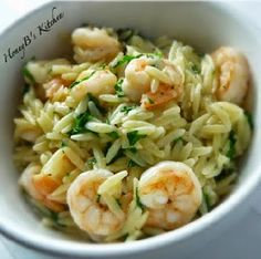 Lemon Pepper Shrimp Scampi with Orzo by Grumpy's HoneyBunch