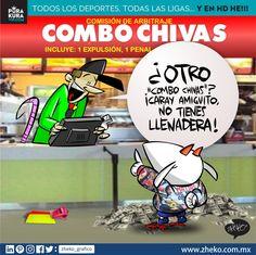 "#ElCartonDelDia para @purakuravip ""COMBO CHIVAS"" @chivas@ClubAmerica #ChivasAmerica #ClasicoNacional #ChivasTV"