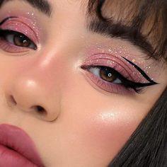 Edgy Makeup, Makeup Eye Looks, Creative Makeup Looks, Eye Makeup Art, Pink Makeup, Cute Makeup, Pretty Makeup, Colorful Makeup, Beauty Makeup