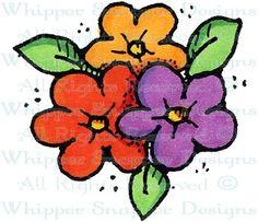 Flower Cluster - Whimsical - Floral/Garden - Rubber Stamps - Shop
