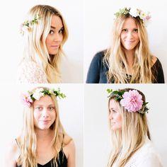 Lauren Conrad's Flower Crown Tutorial