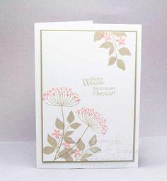 Hochzeitskarte mit Summer Silhouettes von Stampin´ Up!