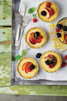 Lemon-Mascarpone Icebox Tarts - Sweet on Citrus Desserts - Southernliving. These chilled, creamy pies are the dessert equivalent of a swimming hole--so refreshing you can't help but dive in.  Recipe: Lemon-Mascarpone Icebox Tarts