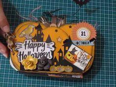 Mini álbum de scrapbooking Halloween