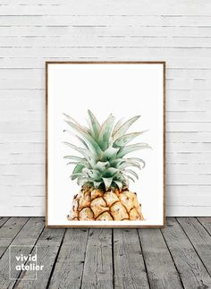 Pineapple Print, Pineapple Wall Art, Watercolor Pineapple, Best Selling Items, Printable Pineapple, Tropical Print, Pineapple, Pineapple Art