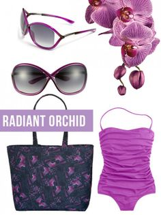 radiant orchid summer beach day look