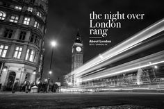 The night over London rang /  Photography of London by Alfredo Carrión http://www.ochoytres.com/portfolio/night-over-london-rang/