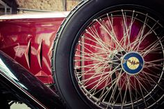 Fragment of retro car EGO 4/14 PS, 1923 - BERLIN - MAY 10, 2015: Fragment of…