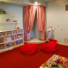 Girls Play Room.  I had one of these!!!  But my mom made it super cool and moroccan :-)