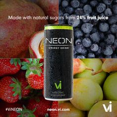 Made with Natural sugars from 24% Fruit Juice!!! Click here: http://atomicdrink.neonenergyclub.com/?culture=it-en
