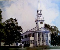 """Mary Helen (Mimi) Davis. """"Watercolors"""" Solo show at the Oliver Wolcott Library, July 1 - August 28, 2015."""