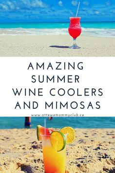 It's patio time! These amazing Summer Wine Coolers and Mimosas are easy to prepare are wonderful drinks for the patio and beach season! Drinks Alcohol Recipes, Alcoholic Drinks, Cocktails, Wine Recipes, Beverages, Wine Coolers Drinks, Grilled Halibut, Chardonnay Wine, Grapefruit Soda
