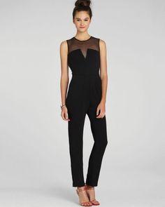 Black Sheer Jumpsuit - ShopSplice - 1