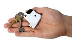Fetch My Keys Keychain - can't find your keys?  Just whistle and the dog barks!  I'd be whistling a lot!!!!