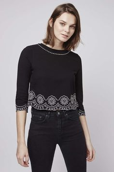 Photo 2 of Petal Embroidered Top Just Style, Fall Winter, Autumn, My Wardrobe, My Design, Topshop, Spring Summer, Diy, Shopping