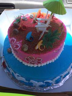 Bizcocho playero!!! #celebrando #vida #onceaños #princesa #niña #rosa #azul #amarillo #violeta #rojo #puroamor #Diosesbueno #domingo #familia #corazoninflao #mimayortesoro #pedroysharon #buye #caborojo #puertorico #playasolyarena