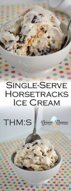 This Single-Serve Horsetracks Ice Cream is my healthy version of Moosetracks!  THM:S, low carb, sugar free, and gluten free