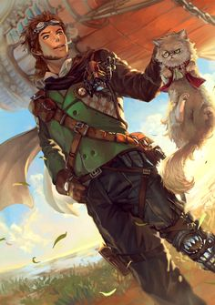 Steampunk is a genre inspired by the steam power in British Victorian Era or American Wild West combined with fictional. Fantasy Character Design, Character Design Inspiration, Character Concept, Character Art, Concept Art, Dungeons And Dragons Characters, Dnd Characters, Fantasy Characters, Steampunk Boy