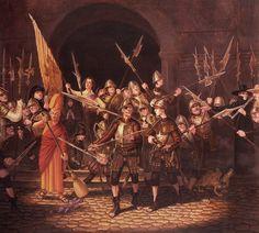 Paul Kidby's full illustration of  Night Watch.
