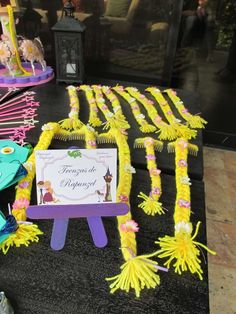 Pretty Tangled Birthday Party Braids!  See more party planning ideas at CatchMyParty.com!
