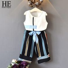 Children Spring Suits 2019 New Style Girls Sports Clothes Sets Lace Design Splice And Solid Color Pants Clothes Sets Kids Tutu Outfits, Sport Outfits, Kids Outfits, Girls Vest Tops, Shirts For Girls, Cap Baby, Baby Girl Fashion, Kids Fashion, Fashion Shoes