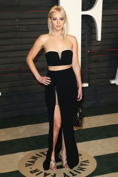 Jennifer Lawrence in Alexander Wang at the Vanity Fair Oscars Party