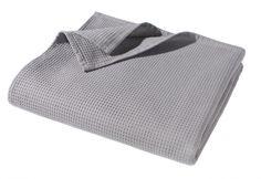 WOHNWOHL® Sommer Waffel Decke; Farbe Grau; 150x200cm
