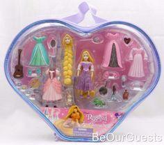Disney-Parks-Princess-Rapunzel-Tangled-Fashion-Playset-Polly-Pocket-New